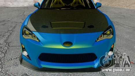 Subaru BRZ Drift Built für GTA San Andreas Rückansicht