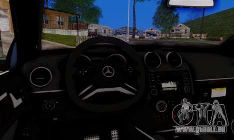 Mercedes-Benz ML63 AMG pour GTA San Andreas vue intérieure