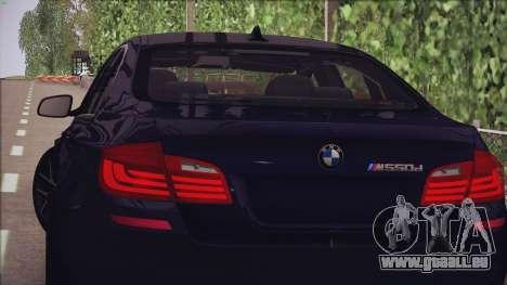 BMW M550d 2014 pour GTA San Andreas laissé vue