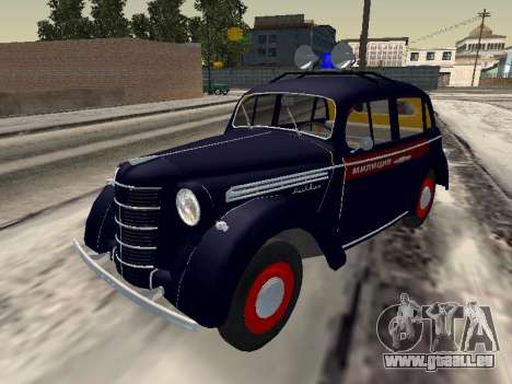 Moskvich 400 Police pour GTA San Andreas