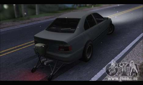 BMW e39 Drag Version pour GTA San Andreas sur la vue arrière gauche