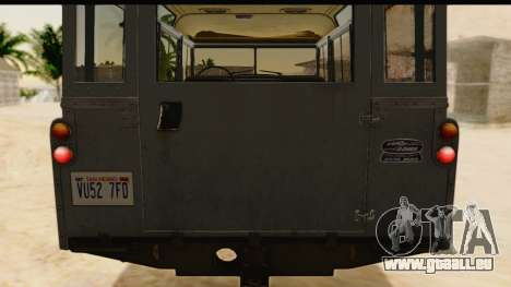 Land Rover Series IIa LWB Wagon 1962-1971 [IVF] pour GTA San Andreas vue intérieure