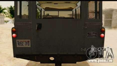 Land Rover Series IIa LWB Wagon 1962-1971 [IVF] pour GTA San Andreas vue intérieure