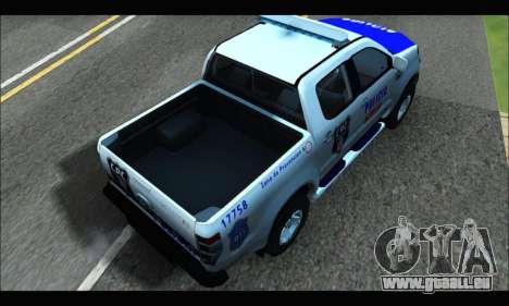 Ford Ranger P.B.A 2015 Text4 für GTA San Andreas zurück linke Ansicht