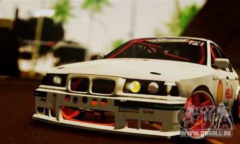 BMW M3 E36 Darnitsa Bandits pour GTA San Andreas vue de droite