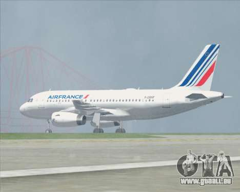Airbus A319-100 Air France für GTA San Andreas Räder