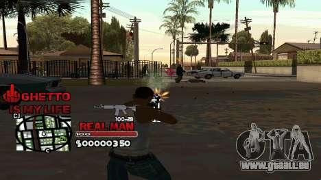 C-HUD Real Man pour GTA San Andreas deuxième écran