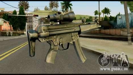 MP5 from Max Payne pour GTA San Andreas deuxième écran