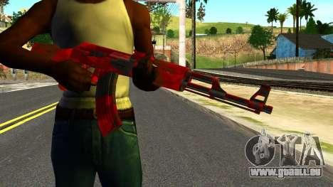 AK47 with Blood pour GTA San Andreas