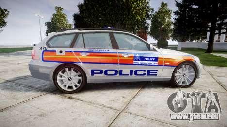BMW 325d E91 2009 Metropolitan Police [ELS] pour GTA 4 est une gauche