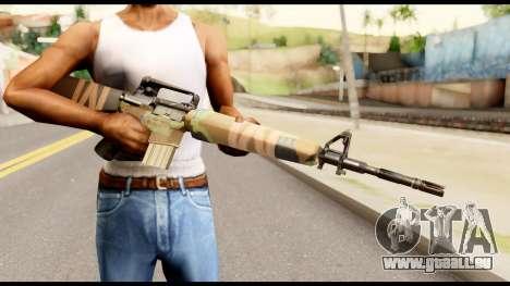M16 from Metal Gear Solid für GTA San Andreas dritten Screenshot