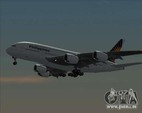 Airbus A380-800 Philippine Airlines pour GTA San Andreas sur la vue arrière gauche