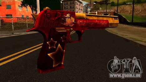 Noël Desert Eagle pour GTA San Andreas deuxième écran
