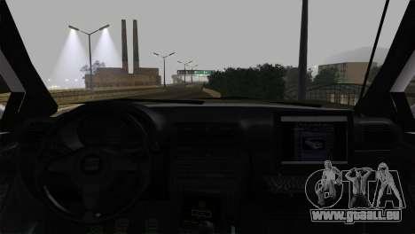 Seat Toledo 1999 Police für GTA San Andreas zurück linke Ansicht