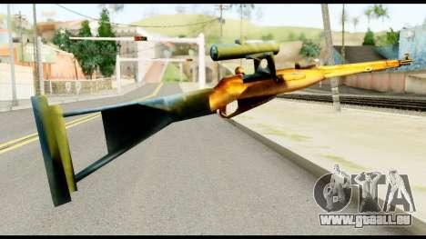 Mosin Nagant from Metal Gear Solid pour GTA San Andreas deuxième écran