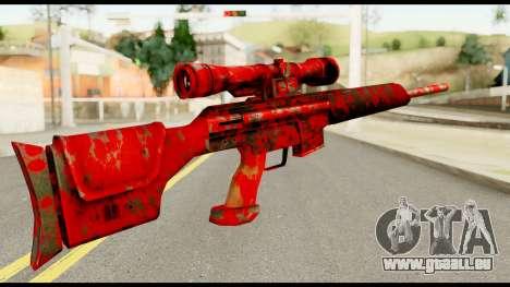 Sniper Rifle with Blood für GTA San Andreas zweiten Screenshot