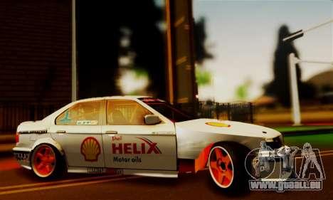BMW M3 E36 Darnitsa Bandits pour GTA San Andreas sur la vue arrière gauche