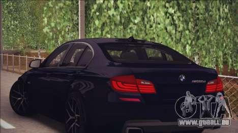 BMW M550d 2014 pour GTA San Andreas vue de droite