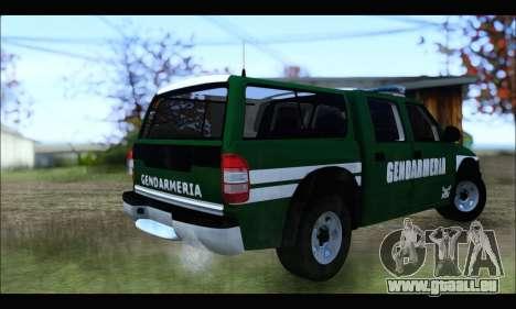 Chevrolet S-10 Gendarmeria pour GTA San Andreas sur la vue arrière gauche