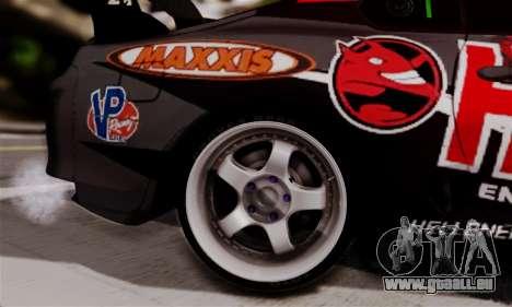 Toyota Supra HELL DT pour GTA San Andreas sur la vue arrière gauche