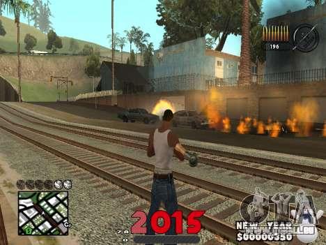 CLEO HUD New Year 2015 für GTA San Andreas zweiten Screenshot