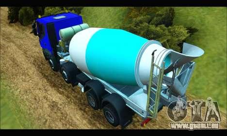 Iveco Trakker 2014 Concrete pour GTA San Andreas sur la vue arrière gauche