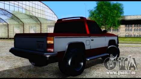 Rancher Hunter pour GTA San Andreas laissé vue
