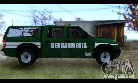 Chevrolet S-10 Gendarmeria pour GTA San Andreas laissé vue