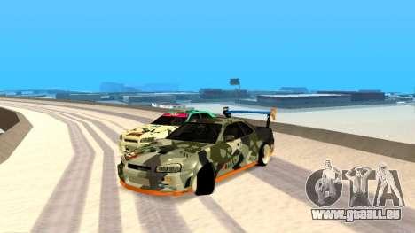 Nissan Skyline R34 FAIL CREW 2014 pour GTA San Andreas