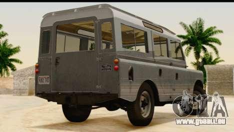 Land Rover Series IIa LWB Wagon 1962-1971 [IVF] pour GTA San Andreas laissé vue
