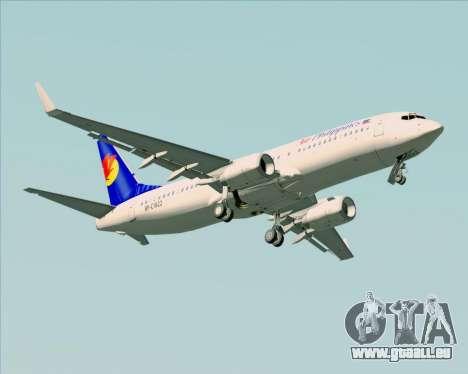 Boeing 737-800 Air Philippines für GTA San Andreas obere Ansicht