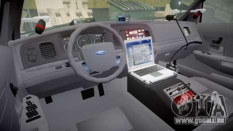 Ford Crown Victoria Highway Patrol [ELS] Slickto pour GTA 4 Vue arrière