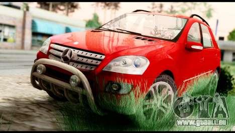 Mercedes-Benz ML500 v.2.0 Off-Road Edition pour GTA San Andreas