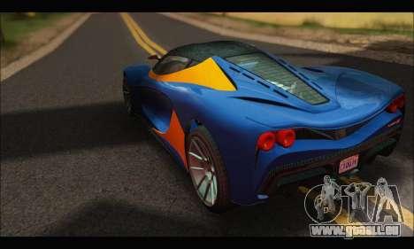 Grotti Turismo R v2 (GTA V) für GTA San Andreas zurück linke Ansicht