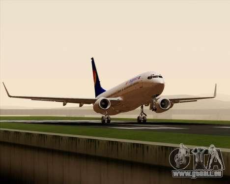 Boeing 737-800 Air Philippines für GTA San Andreas Seitenansicht