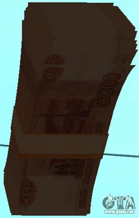 5000 roubles pour GTA San Andreas troisième écran