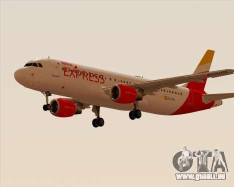 Airbus A320-200 Iberia Express pour GTA San Andreas sur la vue arrière gauche