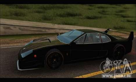 Turismo Limited Edition pour GTA San Andreas sur la vue arrière gauche
