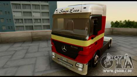 Mercedes-Benz Actros PJ1 pour GTA San Andreas vue de côté