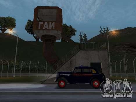 Moskvich 400 Police pour GTA San Andreas vue de droite