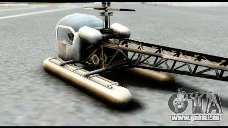 Beta Seasparrow pour GTA San Andreas laissé vue