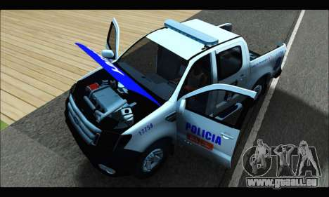 Ford Ranger P.B.A 2015 Text4 pour GTA San Andreas vue arrière