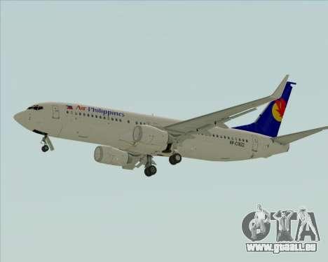 Boeing 737-800 Air Philippines für GTA San Andreas Rückansicht