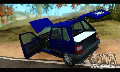 Zastava Yugo Uno für GTA San Andreas Rückansicht