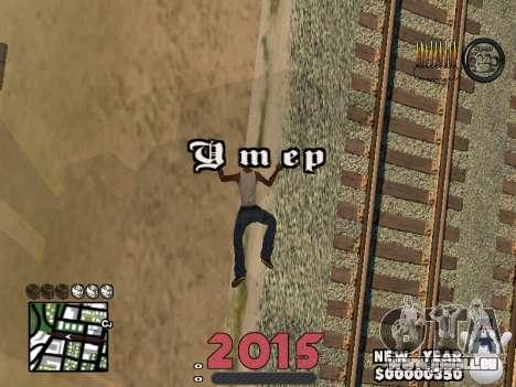 CLEO HUD New Year 2015 pour GTA San Andreas cinquième écran
