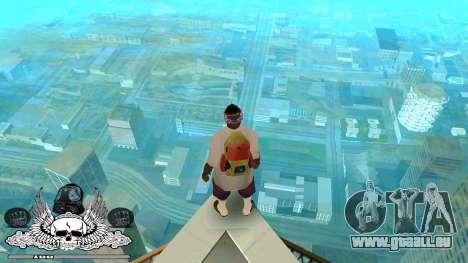 C-HUD Ghetto Chambre pour GTA San Andreas deuxième écran