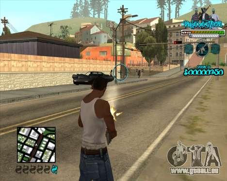 C-HUD for Aztecas pour GTA San Andreas deuxième écran