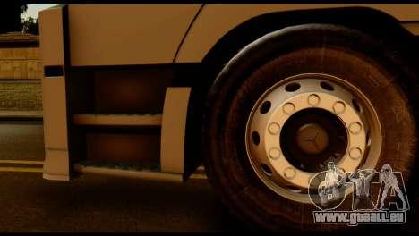 Mercedes-Benz Actros PJ2 für GTA San Andreas zurück linke Ansicht