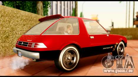 Declasse Rhapsody from GTA 5 IVF pour GTA San Andreas sur la vue arrière gauche