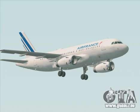 Airbus A319-100 Air France für GTA San Andreas obere Ansicht